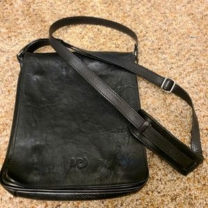 MP made in Portugal black leather crossbody